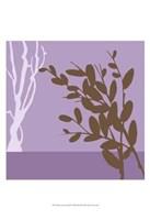 """Metro Leaves In Violet II by June Erica Vess - 13"""" x 19"""""""
