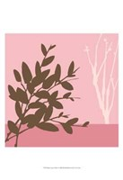 Metro Leaves In Pink I Framed Print