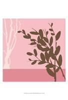 Metro Leaves In Pink II Framed Print