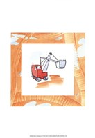 Charlie's Steamshovel Framed Print