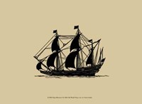 Ship Silhouette I Framed Print