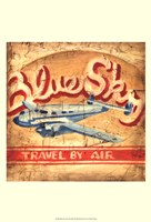 "Blue Sky Travel by Ethan Harper - 13"" x 19"""