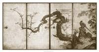 "Cherry Blossoms And Pheasant by Jillian Jeffrey - 42"" x 22"""