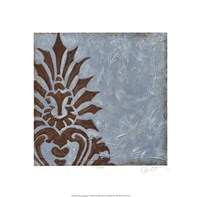 """Silver Damask I by Chariklia Zarris - 18"""" x 18"""""""