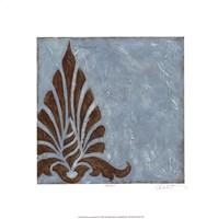 """Silver Damask III by Chariklia Zarris - 18"""" x 18"""""""
