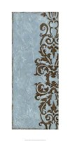 "Silver Damask VI by Chariklia Zarris - 18"" x 36"""