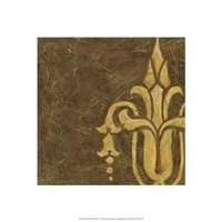 Gold Damask II Framed Print