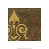 Gold Damask III Framed Print