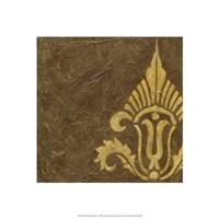 Gold Damask IV Framed Print