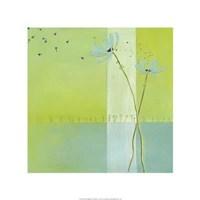 "Blue Seedlings IV by June Erica Vess - 22"" x 22"""