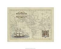 "Antique Map Of The World by Jillian Jeffrey - 26"" x 20"""