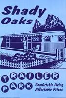 "Retro-Shady Oaks Trailer Park by Jillian Jeffrey - 24"" x 36"", FulcrumGallery.com brand"