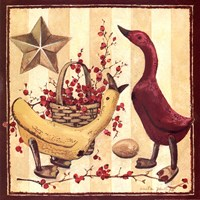 Wooden Ducks I Fine Art Print