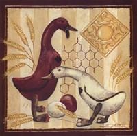 "Wooden Ducks II by Anita Phillips - 12"" x 12"""