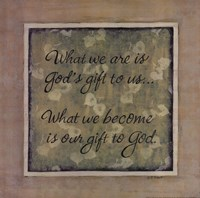 What We Are Fine Art Print