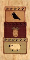 "Crow, Pineapple by Sue Allemand - 8"" x 16"""