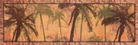 "Transparent Palms I by Maura Kendrick - 36"" x 12"""