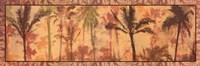 "Transparent Palms II by Maura Kendrick - 36"" x 12"""