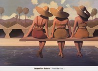 """Poolside Chat by Jacqueline Osborn - 36"""" x 26"""""""