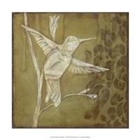 """Wings and Damask III by Jillian Jeffrey - 15"""" x 15"""""""