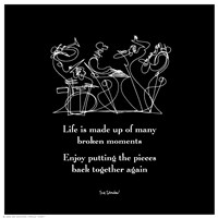 """Life Is Made Up Of Many Broken Moments by Jillian Jeffrey - 6"""" x 6"""", FulcrumGallery.com brand"""