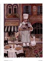 Chef With Wine Framed Print