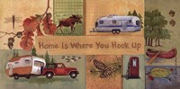 """Home is Where You Hook Up - quote by Anita Phillips - 20"""" x 10"""""""