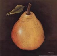 Yellow Pear Framed Print