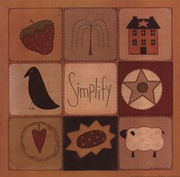 Simplify Patch Fine Art Print