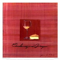 "Wine & Cheese IV by Jennifer Sosik - 13"" x 13"""
