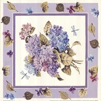"Mixed Color Hydrangeas by Karen Avery - 12"" x 12"""