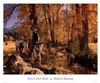 Eric's Fall Ride Framed Print