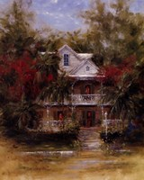Keywest Cottage II Framed Print