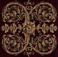 """Baroque Medallion II by Jillian Jeffrey - 20"""" x 20"""""""