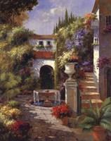 "Fontana Di Cortile by Jillian Jeffrey - 22"" x 28"""