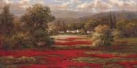 """Poppy Village by Jillian Jeffrey - 36"""" x 18"""""""