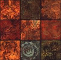 "Arabesque Patchwork I by Jillian Jeffrey - 24"" x 24"""