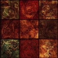"Arabesque Patchwork II by Jillian Jeffrey - 24"" x 24"""