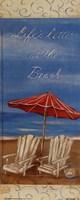 Life's Better At The Beach Framed Print