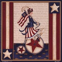 "Star Spangled Girl by Leslie Beck - 7"" x 7"""