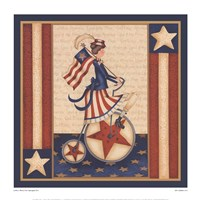 "Star Spangled Girl by Leslie Beck - 15"" x 15"""
