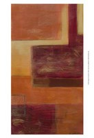 Orange Two-Step III Framed Print