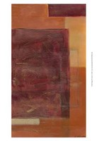 Orange Two-Step IV Framed Print