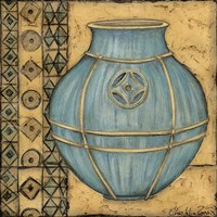 Square Cerulean Pottery I by Chariklia Zarris - various sizes
