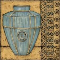 Square Cerulean Pottery II Framed Print