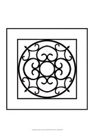 Black And White Ironwork II Framed Print