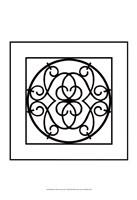 "Black And White Ironwork III by Chariklia Zarris - 13"" x 19"", FulcrumGallery.com brand"