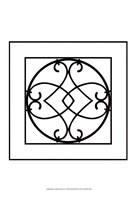 "Black And White Ironwork VI by Chariklia Zarris - 13"" x 19"", FulcrumGallery.com brand"