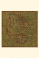 Old World Paisley I Framed Print