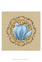 "Gilded Tulip Medallion I by June Erica Vess - 13"" x 19"""